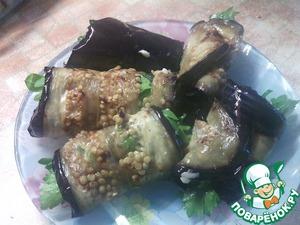 Рецепт Рулетики из баклажанов с творожным сыром
