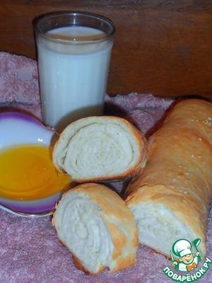Рецепт Домашний хлеб-рулет с оливковым маслом