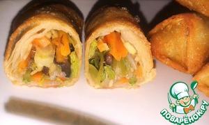 Рецепт Спринг роллы (лумпия) с овощами и тесто для них