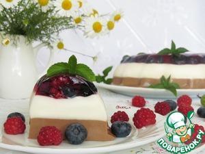 Рецепт Диетический сливочно-шоколадный десерт