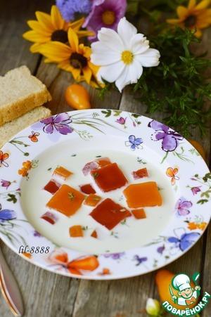 Рецепт Летний йогуртовый суп с овощным желе