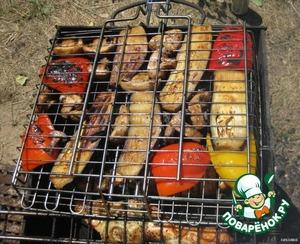 Как сделать овощи на гриле на костре 548