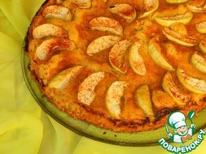 Рецепт Яблочный пирог с овсяными хлопьями