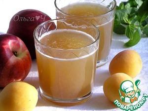 Рецепт Яблочно-нектариновый морс с мятным сиропом