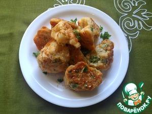 Рецепт Цветная капуста в кляре с паприкой, сыром и кунжутом
