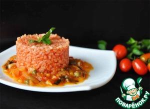 Рецепт Томатный рис с соусом маринара и каперсами