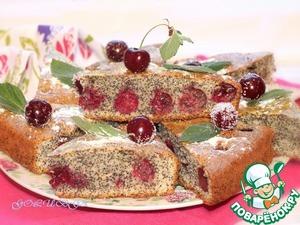 Рецепт Маковый пирог с вишней