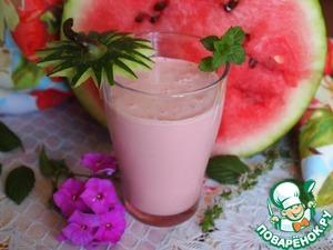 Рецепт Молочный коктейль с арбузом и мятой