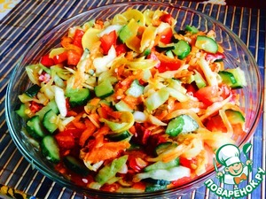 """Рецепт Пикантный салат из свежих овощей """"Летнее сокровище"""""""
