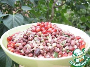 Рецепт Грузинский салат из фасоли с гранатом и орехами