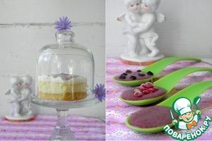 Рецепт Десерт из рикотты с воздушным малиновым кремом