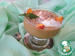 Рецепт Десерт из нектаринов с пломбиром и миндалем