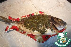 Рецепт Дорадо с соусом сальса верде