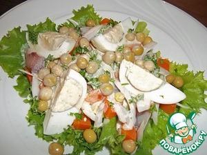 Рецепт Салат c авокадо и сельдью (порционный вариант)