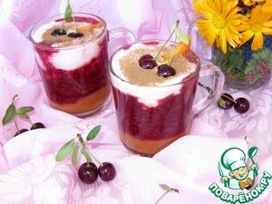 Рецепт Десерт из абрикосов и вишни