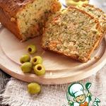 Закусочный кекс с сeмгой и зеленью