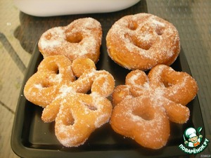 Рецепт: Фигурные пончики