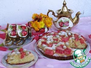 Рецепт Пирог с виноградом и арбузом