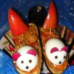 Мышки под парусами (баклажаны, фаршированные овощами)
