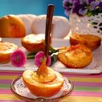 Нектарины и персики крем брюле