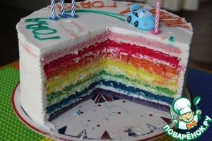 рецепт торт радужний день