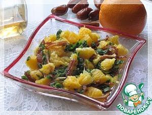 Рецепт Апельсиновый салат с мятой и финиками