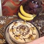 Творожный торт-суфле с бананом