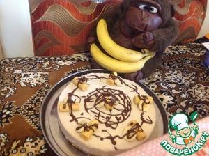 Рецепт Творожный торт-суфле с бананом