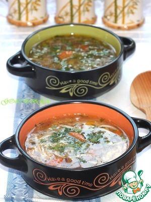 Рецепт Грибной суп с вермишелью приготовленный в мультиварке Stadler Form