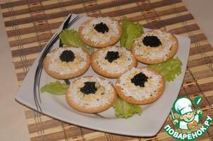 Рецепт Тарталетки с семгой и креветочным кремом