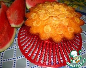 Рецепт Арбузный кекс с кукурузными хлопьями