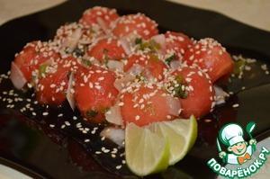 Рецепт Арбузный салат по-азиатски
