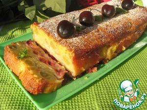 Рецепт Сочный фруктово-ягодный пирог в сметанной заливке