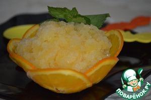 Рецепт Апельсиновая гранита