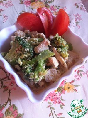 """Рецепт Курица с овощами и грибами """"Белые ночи"""""""