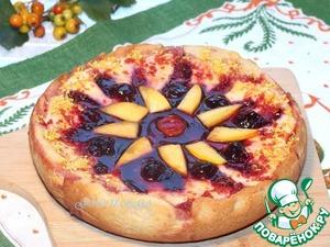 Рецепт Заливной пирог со сливой и вишневым соусом в мультиварке Stadler Form