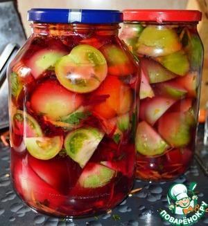 """Рецепт Зеленые помидоры """"100 граммов"""""""