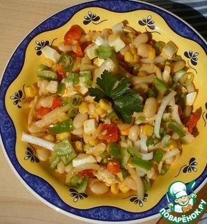 Рецепт Салат из фасоли и карри