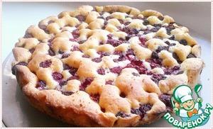 Рецепт: Нежный малиновый пирог