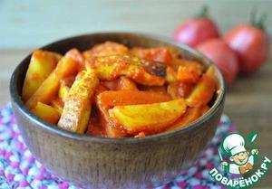 """Рецепт Томатное овощное рагу с сыром """"А-ля сабджи"""""""