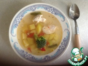 Рецепт Быстрый диетический суп
