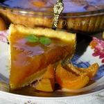 Творожный тарт с абрикосово-апельсиновым желе