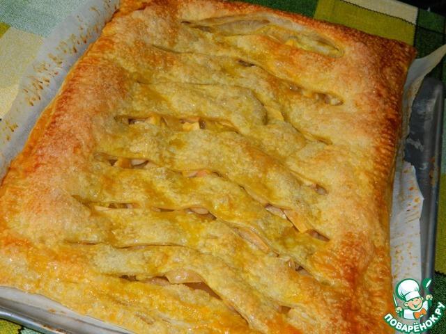 Пирог с яблоками и грушами рецепт с пошагово в духовке