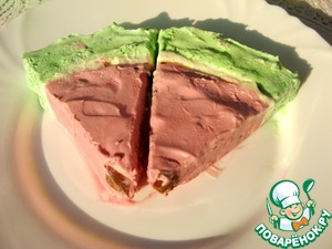 Рецепт Торт-мороженое арбуз