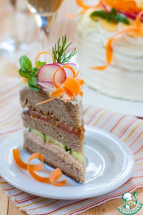 Бутербродные торты пошаговые рецепты 101