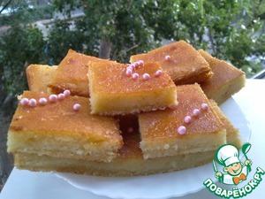 Рецепт Пирог лимонный с сиропом