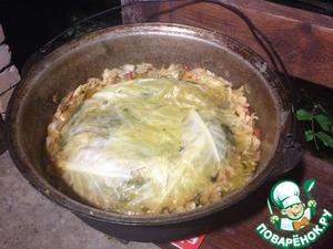 Рецепт Басма с говядиной и свининой в казане