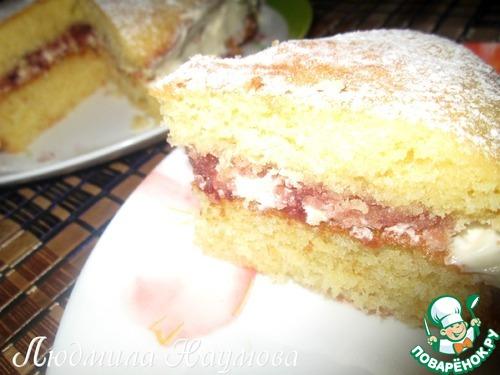 Традиционный английский бисквит королевы Виктории