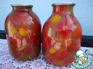 Рецепт Помидоры в овощном маринаде