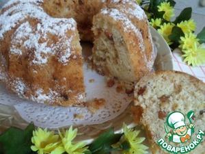 Рецепт Кекс-бабка с яблоками и изюмом